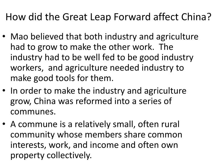 How did the Great Leap Forward affect China?