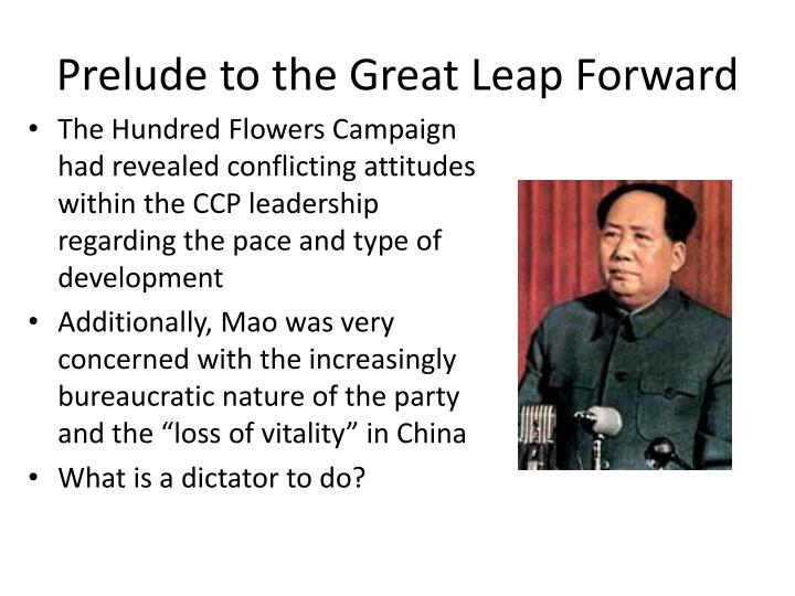 Prelude to the Great Leap Forward