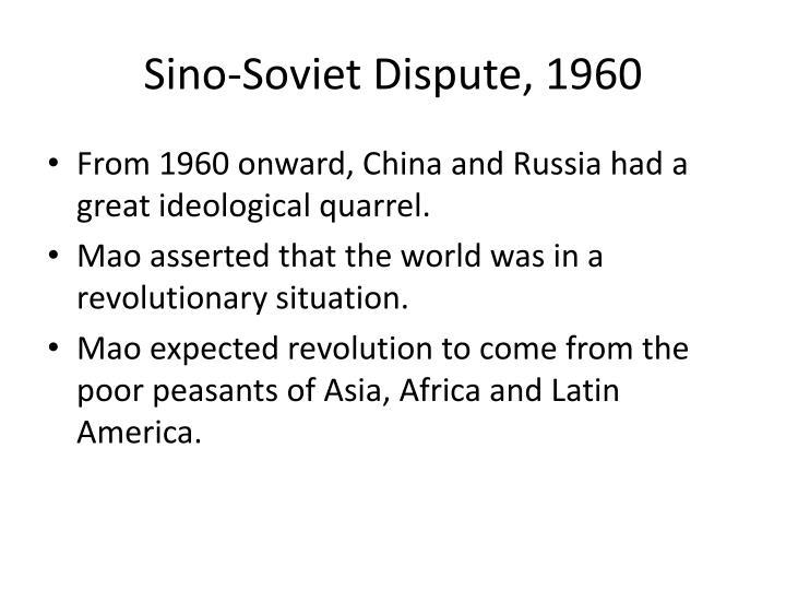 Sino-Soviet Dispute, 1960