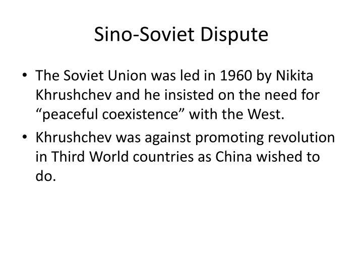 Sino-Soviet Dispute