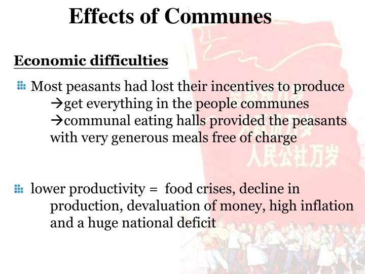 Effects of Communes