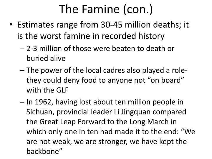 The Famine (con.)