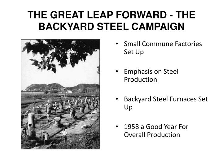 THE GREAT LEAP FORWARD - THE BACKYARD STEEL CAMPAIGN