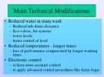 main technical modifications2