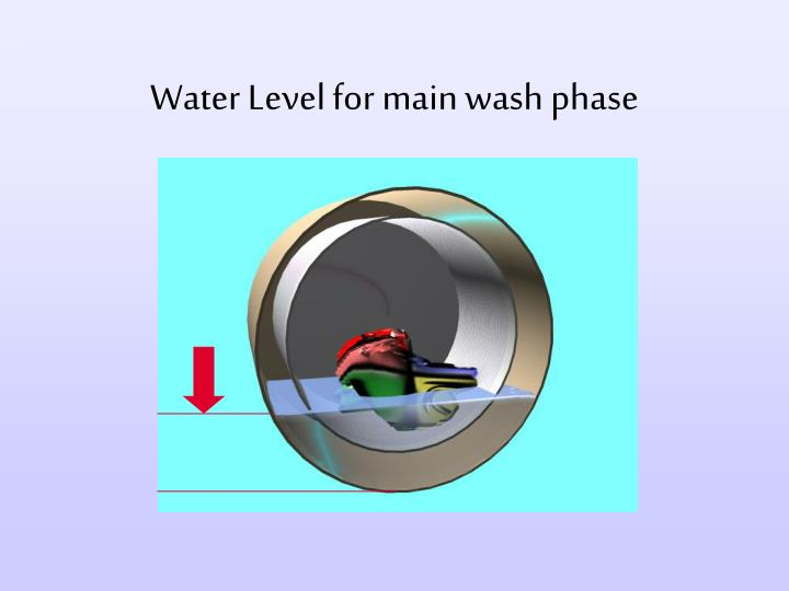 Water Level for main wash phase