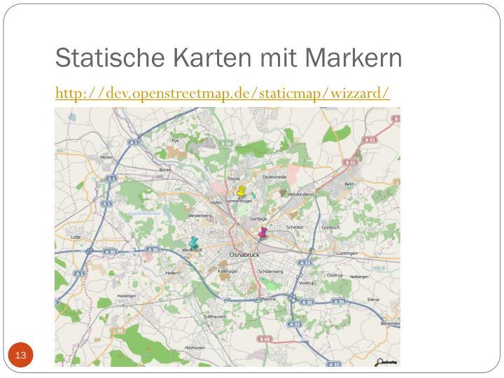 Statische Karten mit Markern