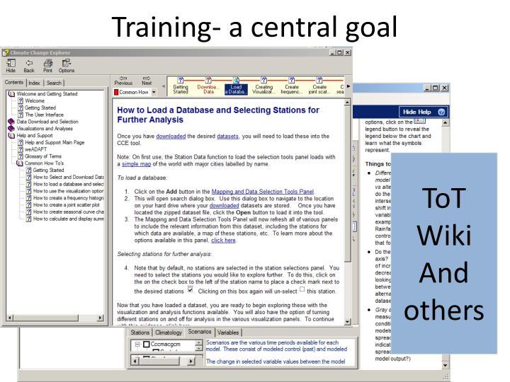 Training- a central goal