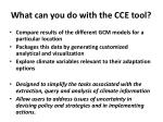 what can you do with the cce tool