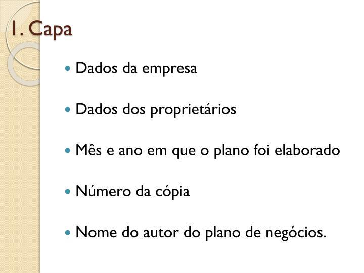 1. Capa