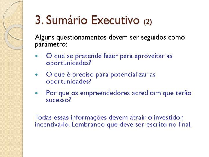 3. Sumário Executivo