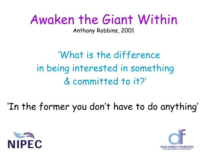 Awaken the giant within anthony robbins 2001