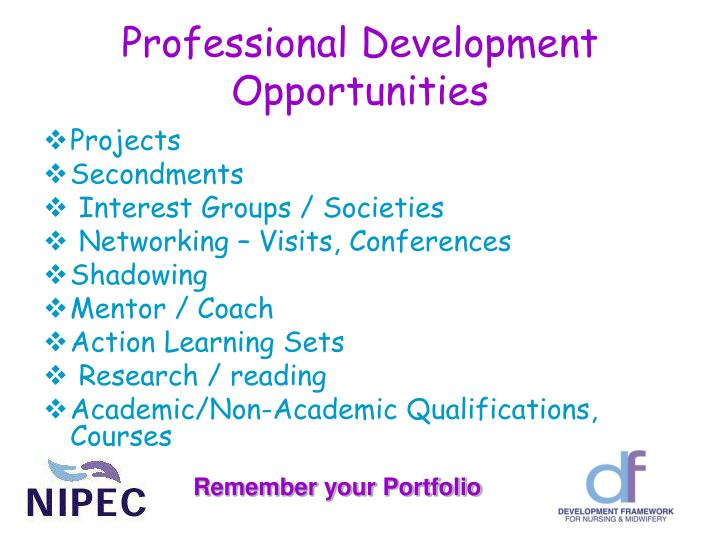 Professional Development Opportunities