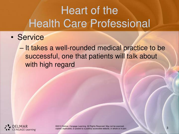 Heart of the health care professional