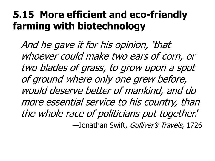 5.15  More efficient and eco-friendly farming with biotechnology