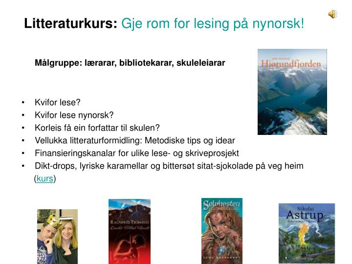 Litteraturkurs:
