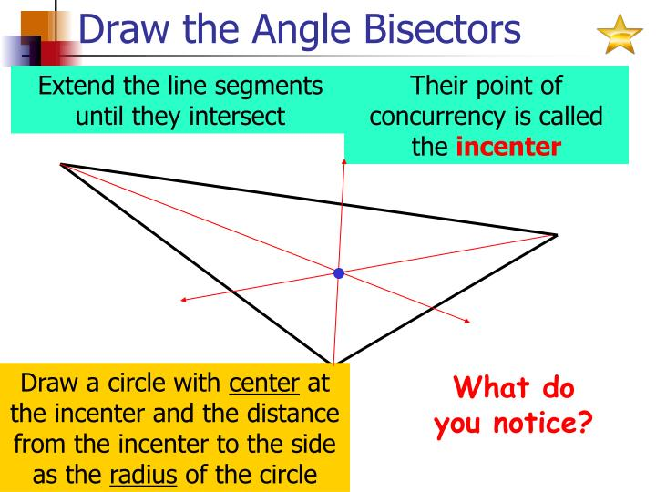 Draw the Angle Bisectors