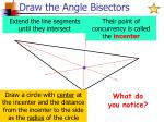 draw the angle bisectors