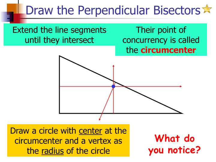 Draw the Perpendicular Bisectors