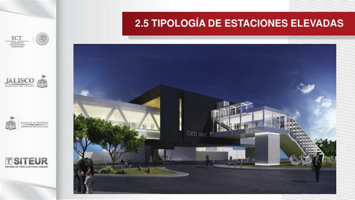 2.5 TIPOLOGÍA DE ESTACIONES ELEVADAS