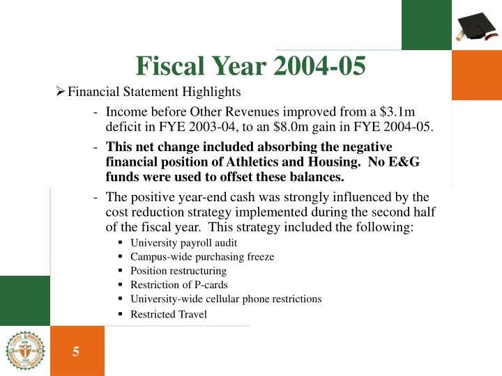 Fiscal Year 2004-05