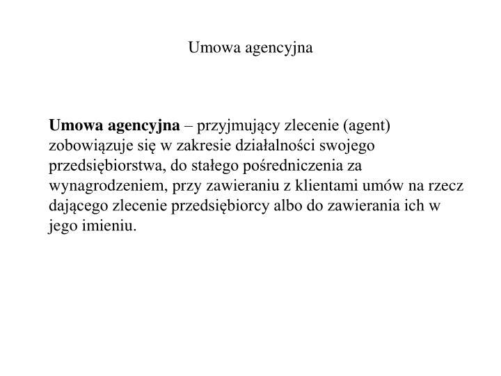 Umowa agencyjna