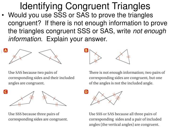 Identifying Congruent Triangles