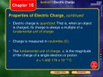properties of electric charge continued