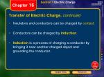 transfer of electric charge continued