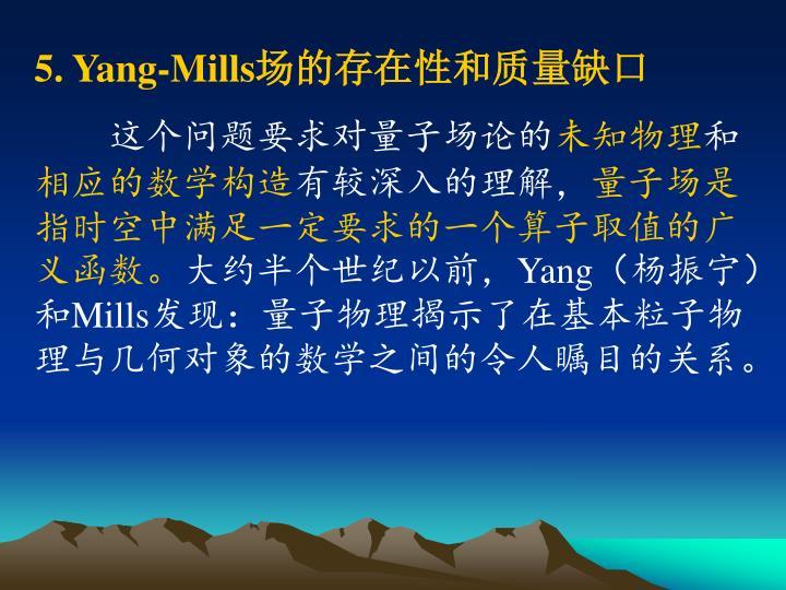 5. Yang-Mills