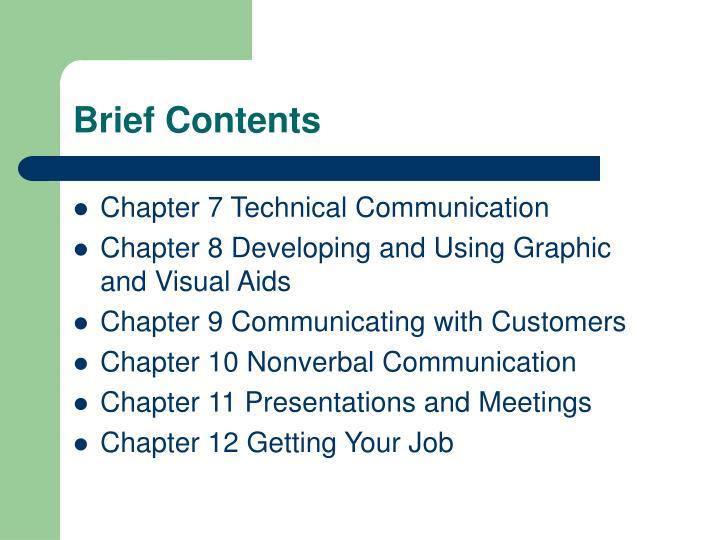 Brief Contents