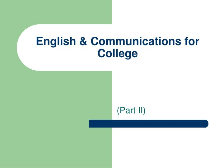 English communications for college