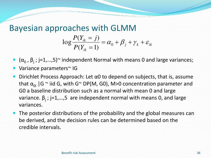 Bayesian approaches with GLMM