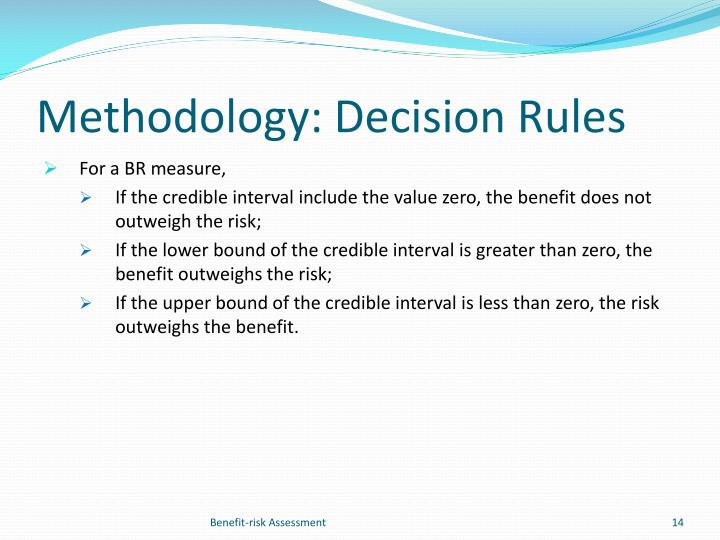 Methodology: Decision Rules