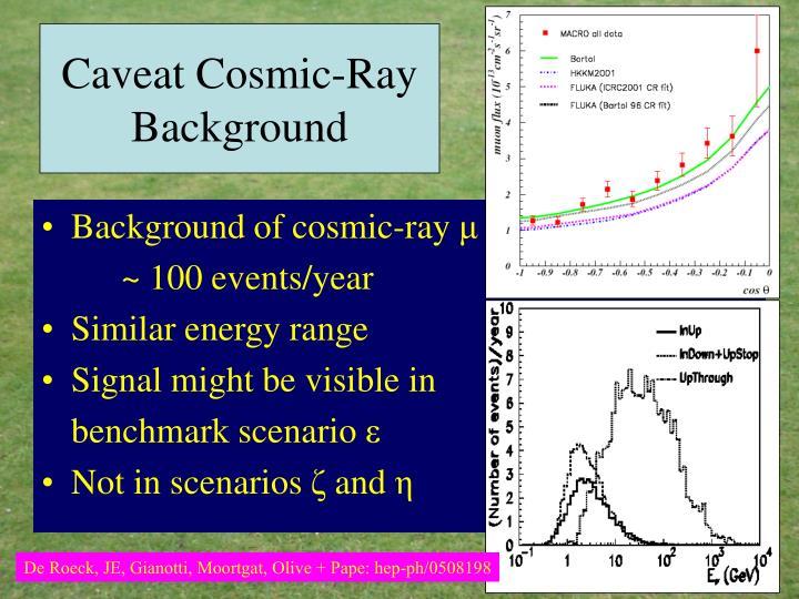 Caveat Cosmic-Ray