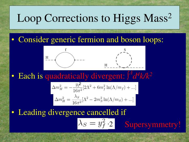 Loop Corrections to Higgs Mass