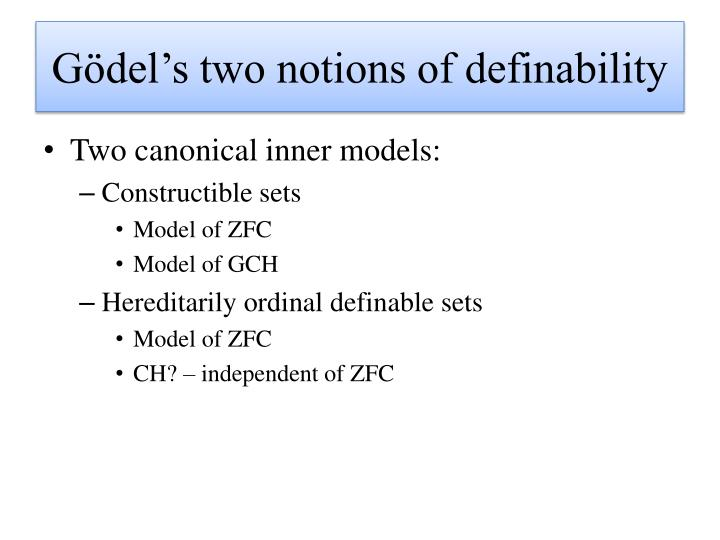Gödel's two notions of definability