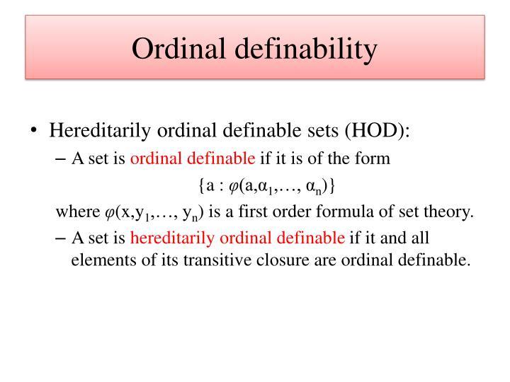 Ordinal definability