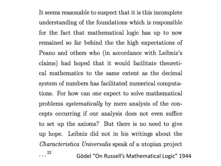 "Gödel ""On Russell's Mathematical Logic"" 1944"