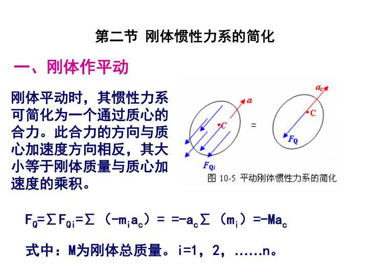 第二节 刚体惯性力系的简化