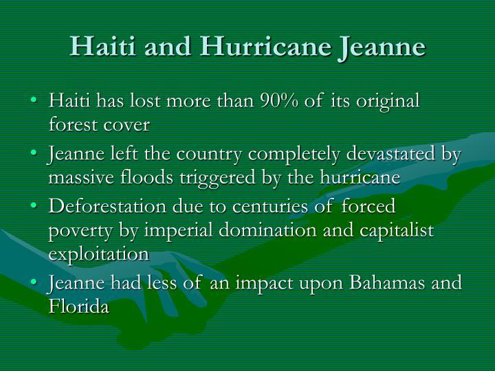 Haiti and Hurricane Jeanne