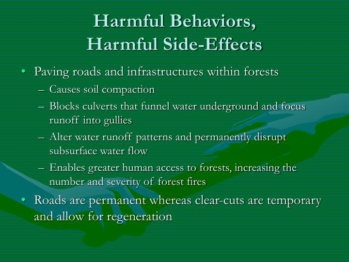 Harmful Behaviors,