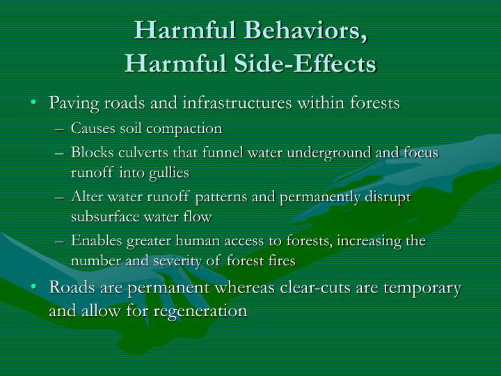 Harmful Behaviors,