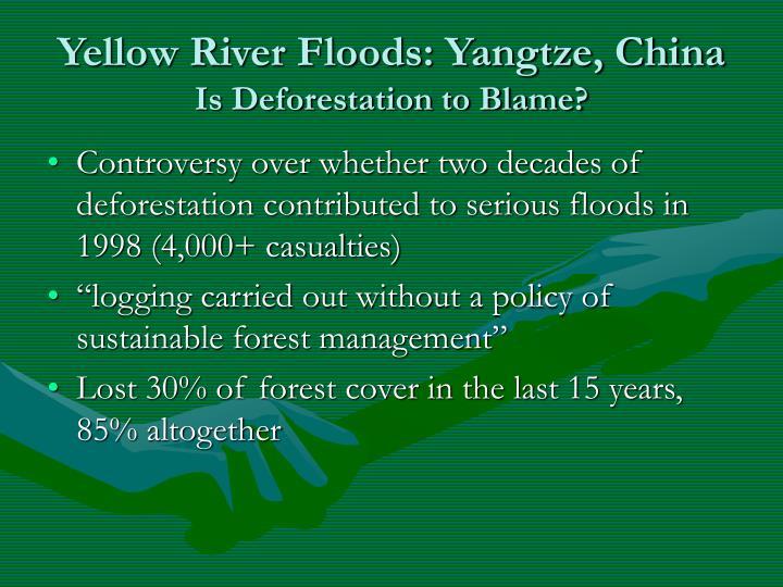 Yellow River Floods: Yangtze, China