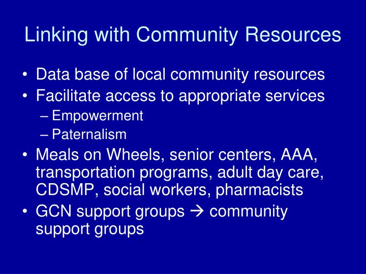 Linking with Community Resources