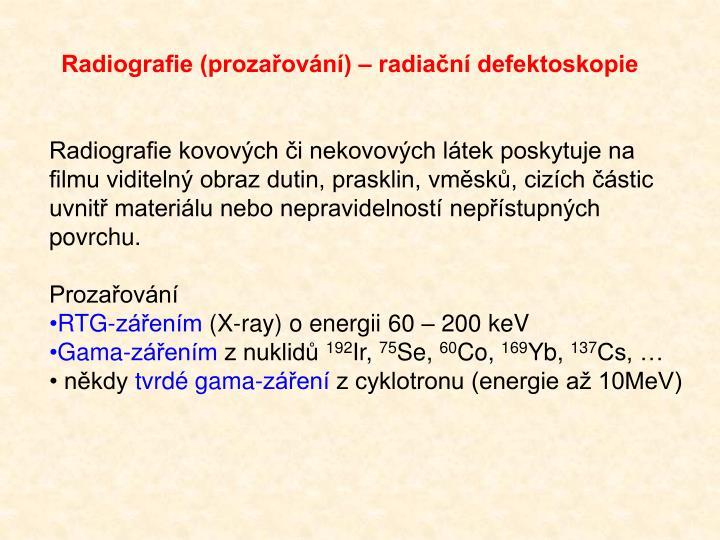 Radiografie (prozařování)