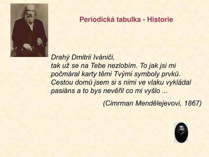 Periodická tabulka - Historie