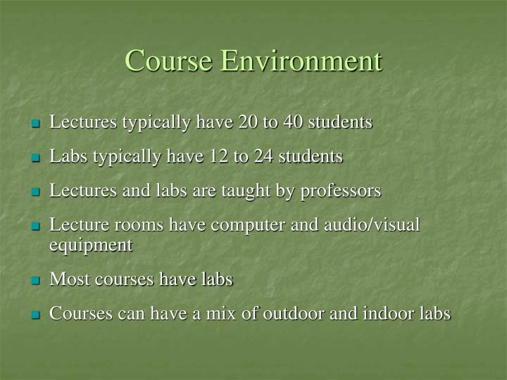 Course Environment