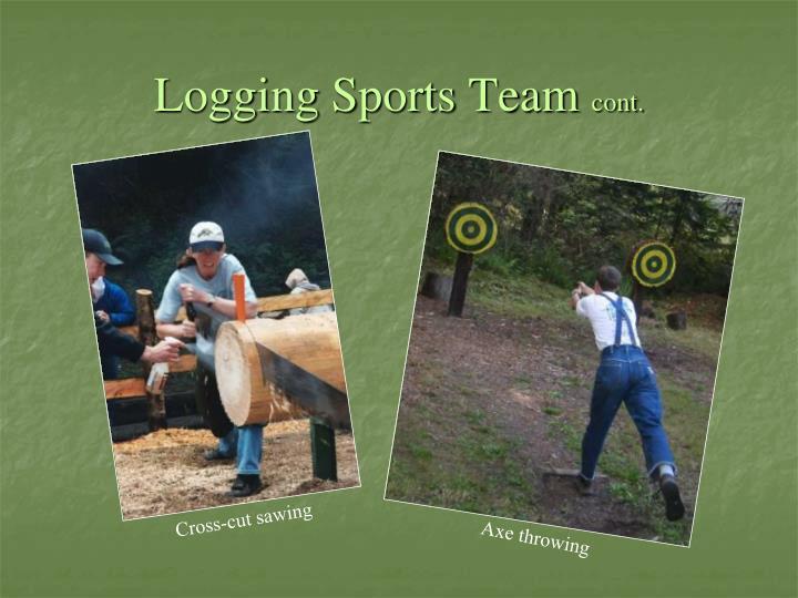 Logging Sports Team