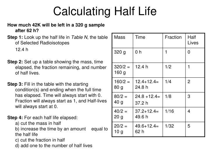 Calculating Half Life