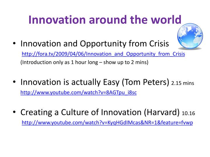 Innovation around the world